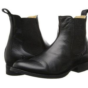 FRYE Erin Chelsea Boots - Black Leather - Size 7